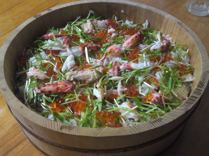 Sushi: Chirashi Zushi au Crabe Hanasaki!