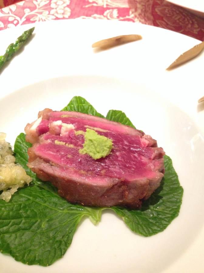 Recette par Dominique Corby au Cordon Bleu  Japan, Inc., Tokyo: Dry aged Beef-Boeuf Rassis et Porc Mangenton de la Compagnie Sanoman de la Préfecture de Shizuoka!
