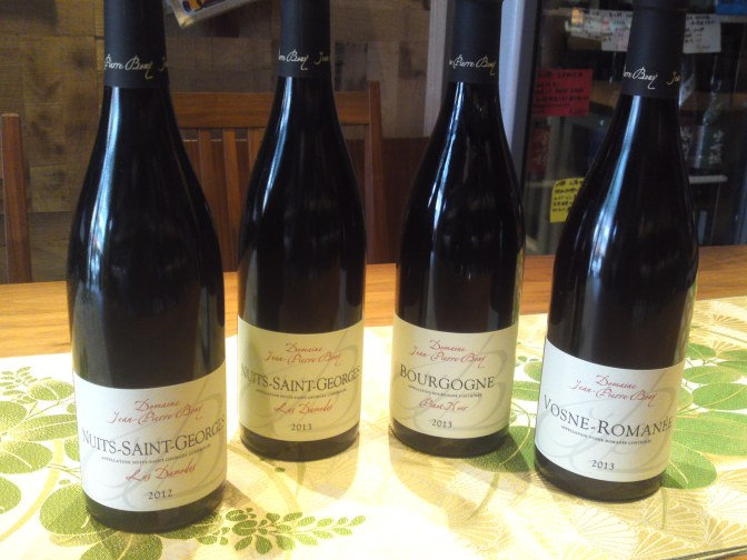 Dégustation des Vins du Domaine jean-Pierre Bony (Nuits-Saint-Georges)à La Sommeliére dans la Ville de Shizuoka!