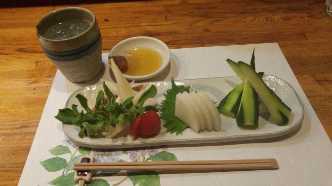 Gastronomie Végétalienne Japonaise: Assiette de Sashimi de Légumesà Yasaitei. Ville de Shizuoka!