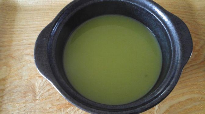 Thé japonais X Potage=»Potchage» par Marufuku Seicha dans laVille de Shizuoka!